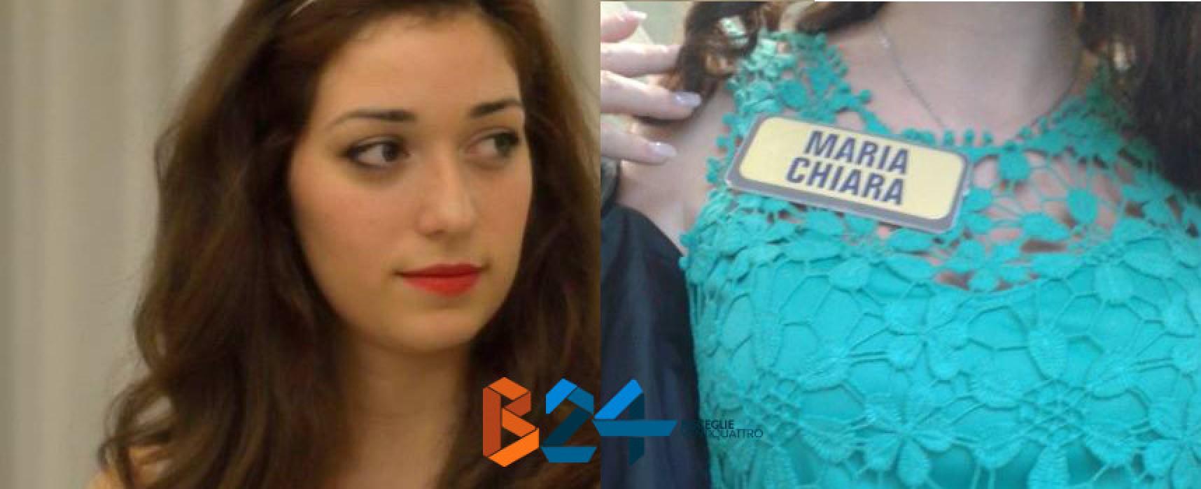 """La 22enne biscegliese Maria Chiara Capurso concorrente ad """"Avanti un altro"""""""