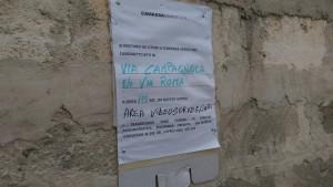 avviso rifiuti via san lorenzo