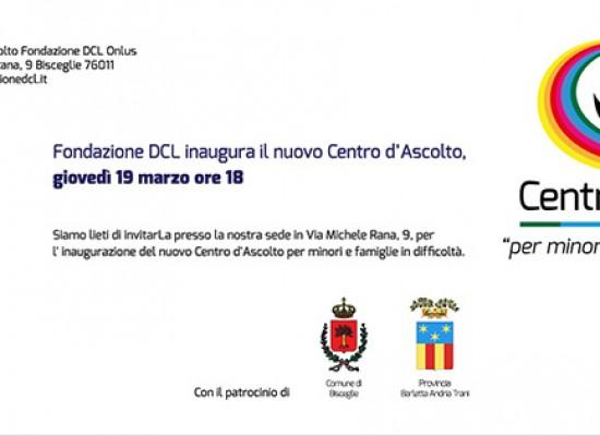 Oggi si inaugura il centro d'ascolto per minori e famiglie in difficoltà della fondazione Dcl Onlus