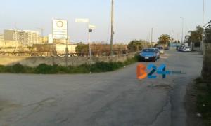 L'incrocio tra via Lama di Macina e via Terlizzi