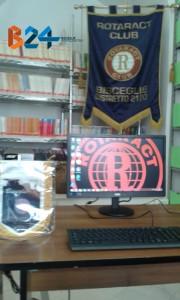 Il computer donato dal Rotaract Club Bisceglie