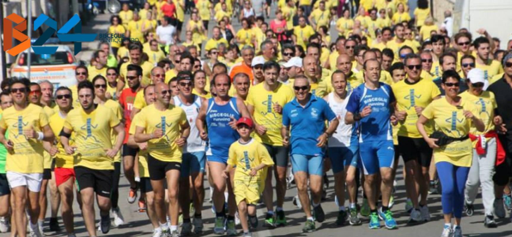 """Bisceglie Running ripropone """"Io corro con te"""" domenica 3 maggio / DETTAGLI ISCRIZIONE"""