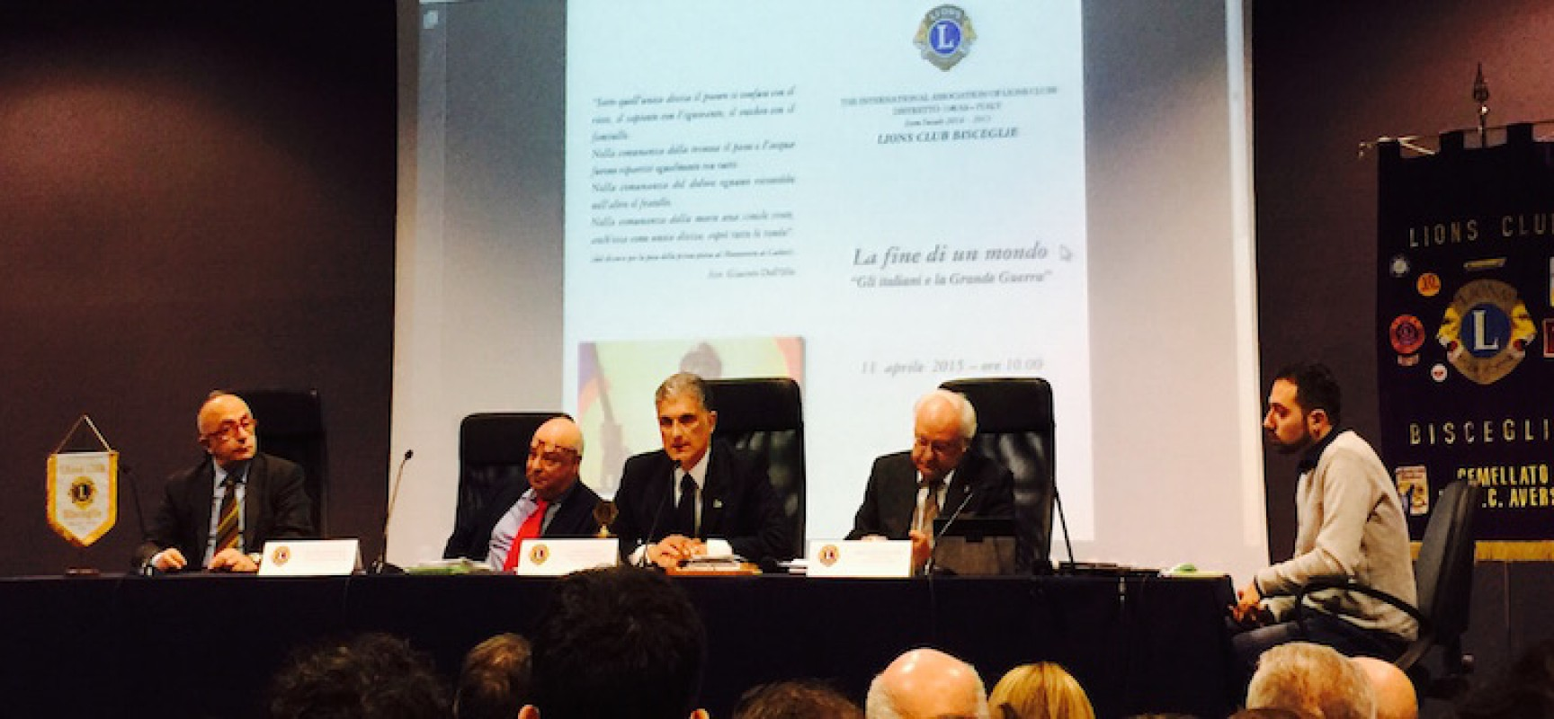 Il prof. Giuseppe Poli spiega agli studenti la Grande Guerra con una lectio magistralis presso il Liceo Da Vinci