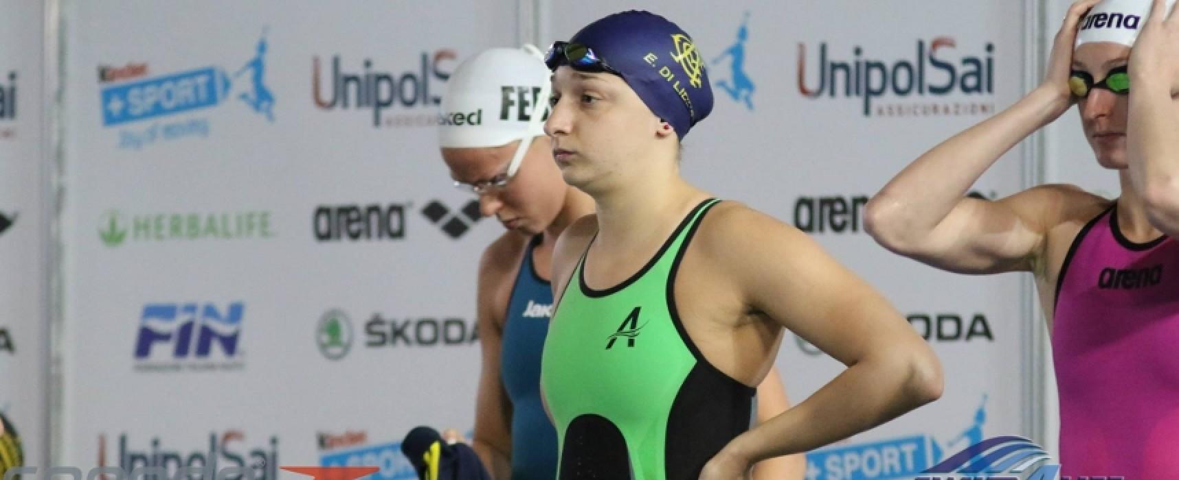 """Internazionali d'Italia """"Trofeo Settecolli"""", medaglia d'argento per Elena Di Liddo nei 100 farfalla"""