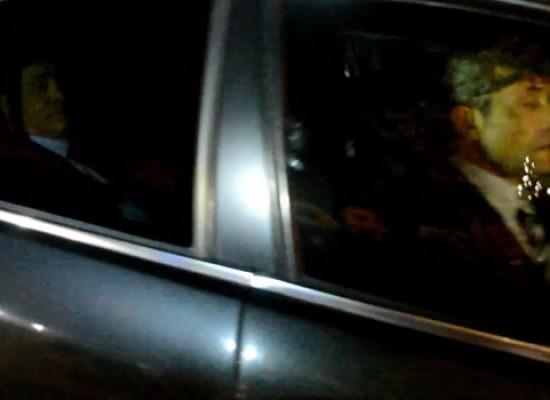 L'arrivo di Berlusconi a Bisceglie per la cena di Forza Italia / VIDEO