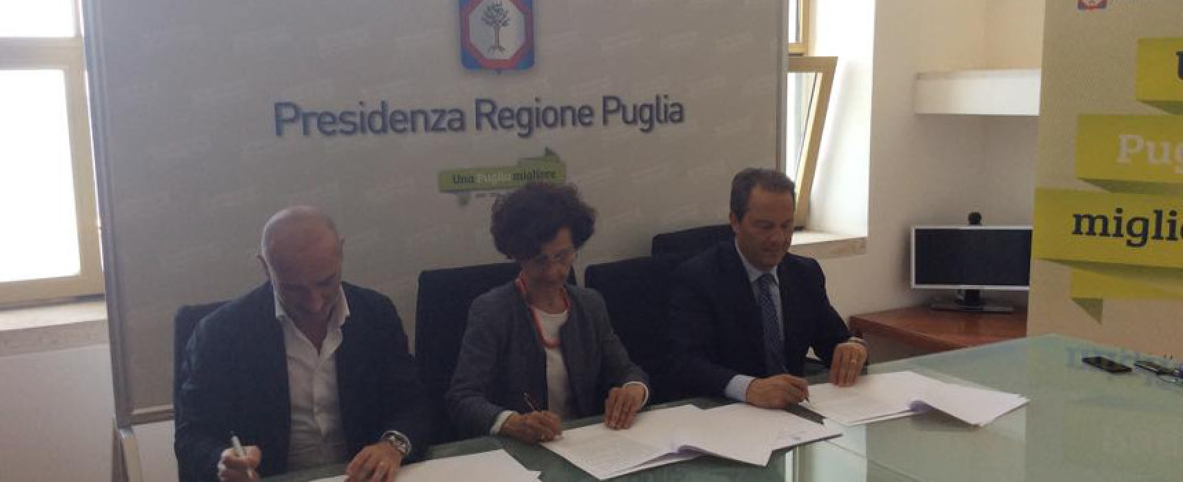 Emergenza abitativa, firmato il protocollo di intesa tra Comune, Regione ed Arca Puglia