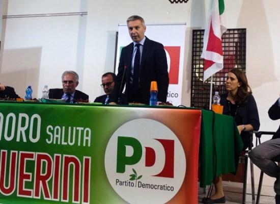 """Il vicesegretario Pd Guerini a Bisceglie: """"Noi diversi dai partiti personali, stiamo cambiando l'Italia"""""""