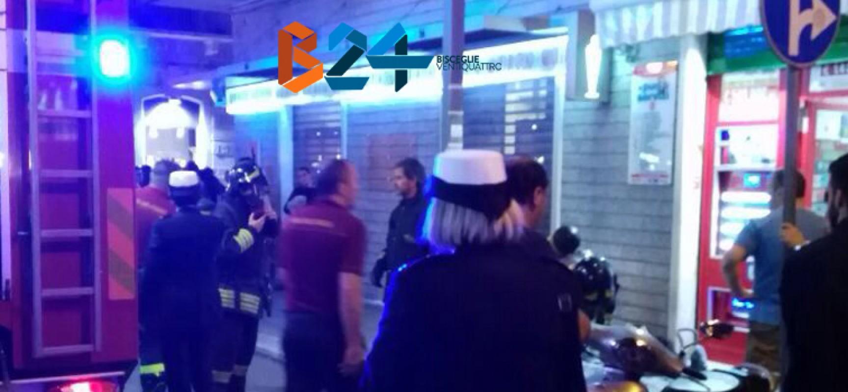 Incendio in una tabaccheria in centro, probabilmente galeotto un mozzicone di sigaretta