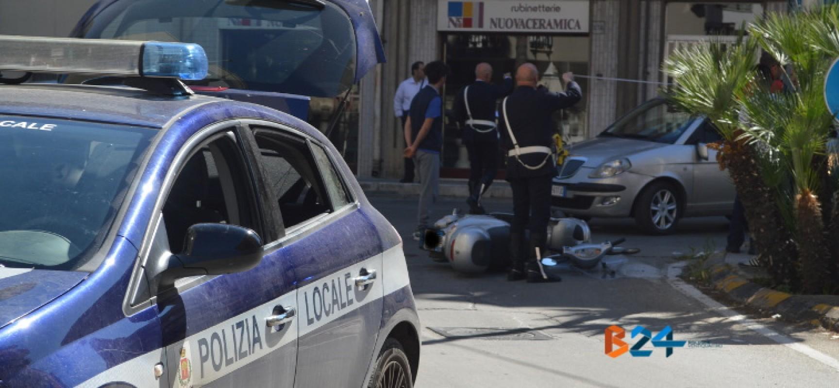 Incidente all'incrocio tra via Imbriani e via Seminario, motociclista trasportato ad Andria