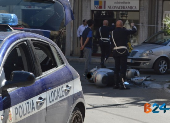 Incidente all'incrocio tra via Imbriani e via Seminario, motociclista trasportato ad Andria