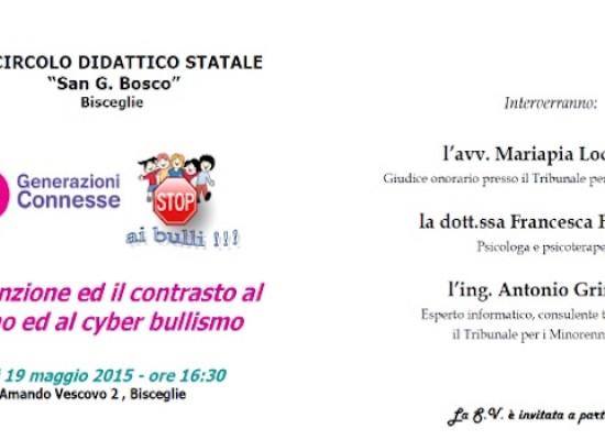 Incontro presso il III Circolo San Giovanni Bosco sul tema del cyberbullismo