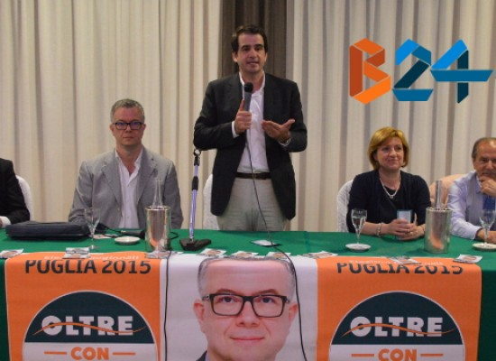 Fitto e Schittulli ieri a Bisceglie per presentare il candidato alla Regione Mimmo Spina / VIDEO e FOTO