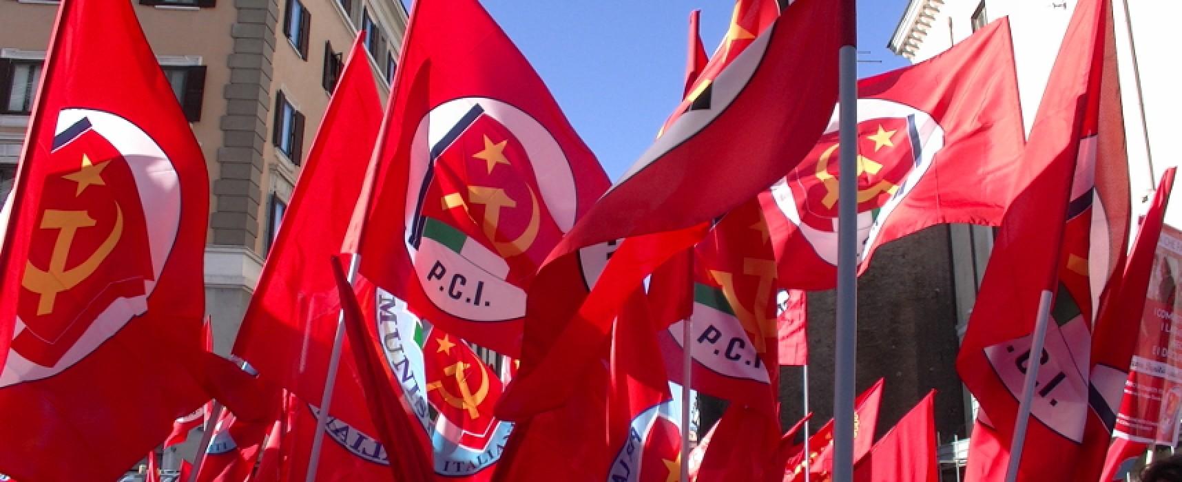 Elezioni regionali, comizio del Partito Comunista d'Italia in Piazza Vittorio Emanuele