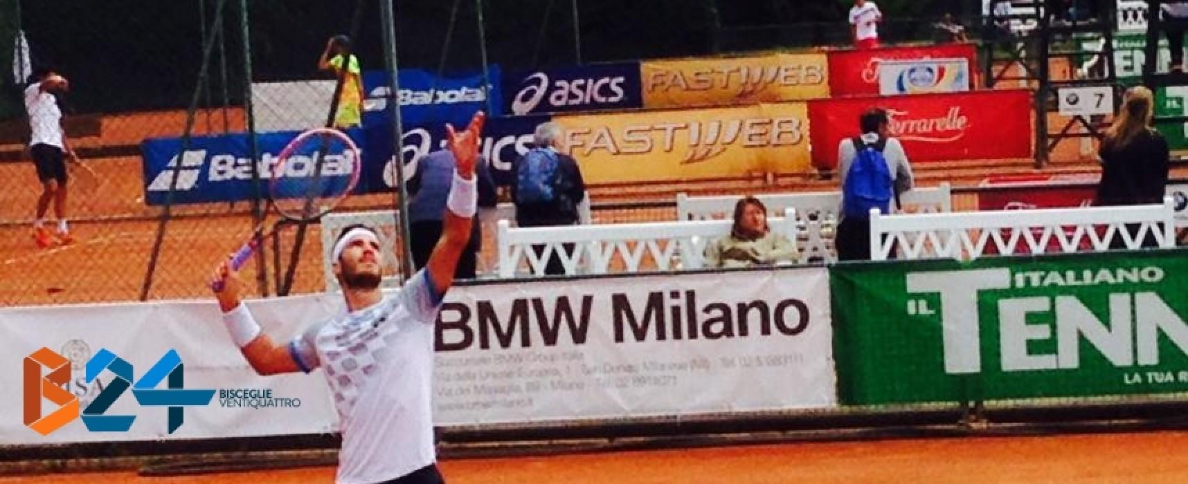 Tennis, Andrea Pellegrino ai quarti di finale del Memorial Fontana