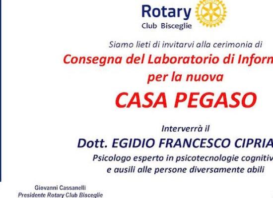 Rotary Club, domani la cerimonia di consegna del laboratorio informatico alla Casa Pegaso