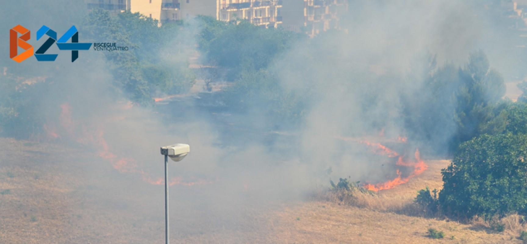 Quarto incendio in quattro giorni nel quartiere Sant'Andrea / FOTO