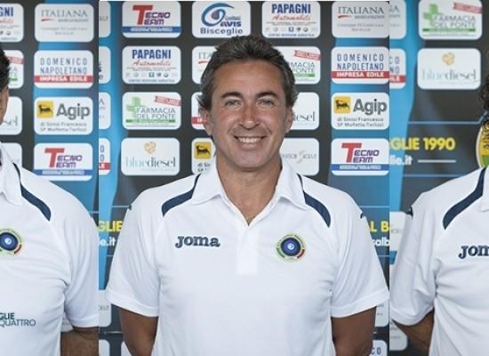 Il Futsal Bisceglie conferma lo staff tecnico formato da Valente, Amoroso e Di Liddo