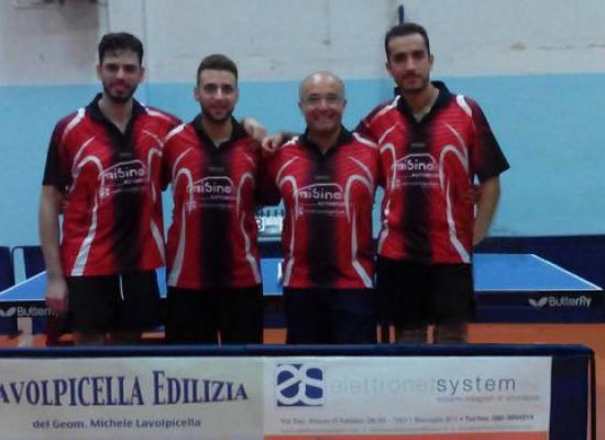 Terminato il primo storico campionato per il Tennistavolo Dolmen di Bisceglie