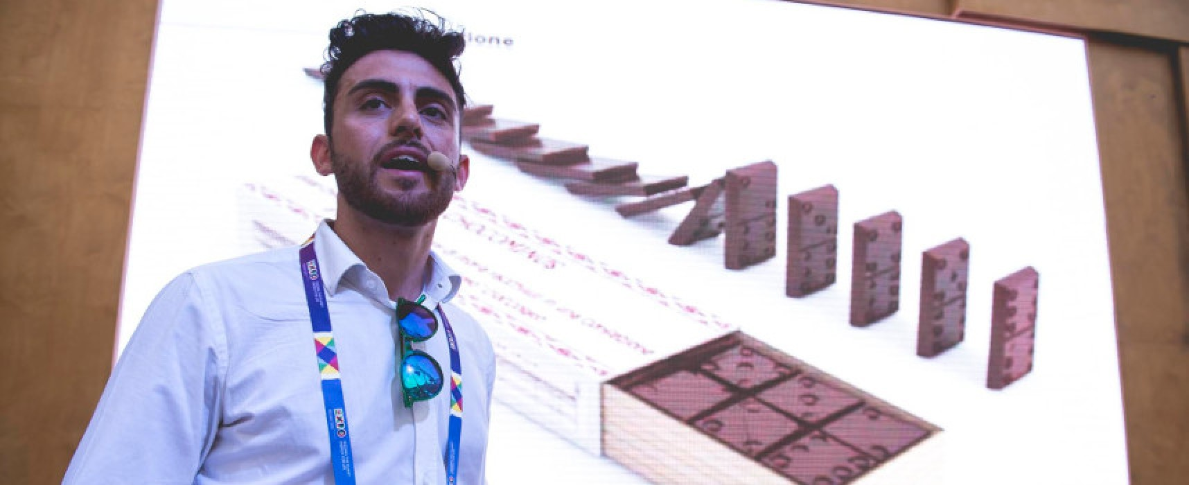 Il designer biscegliese Adriano Torchetti ad Expo 2015 con il suo Chocominus