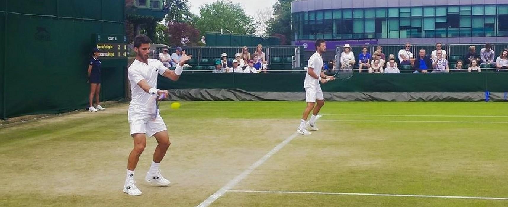 Tennis, Pellegrino out anche nel doppio a Wimbledon