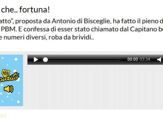 """Antonio da Bisceglie è il nuovo idolo di """"Tutto Esaurito"""" su Radio 105 / AUDIO"""