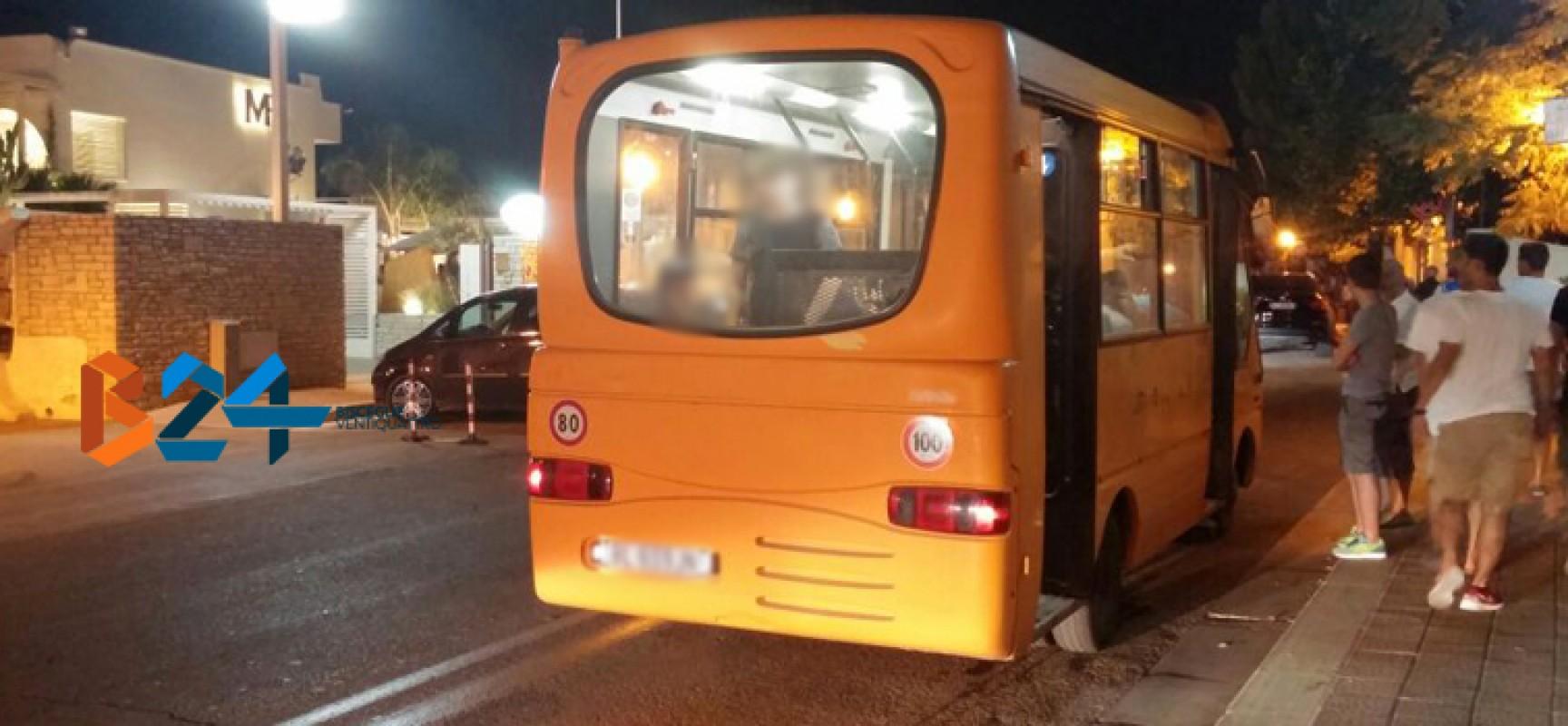 Ragazza biscegliese colpita da un sasso mentre era a bordo del bus navetta serale