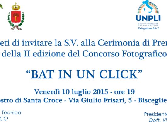 """Concorso fotografico """"BAT in un click"""", venerdì 10 la cerimonia di premiazione"""