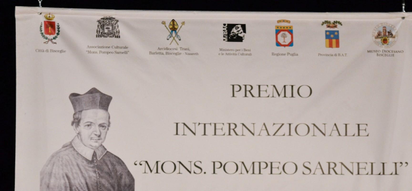 """Premio internazionale """"Mons. Pompeo Sarnelli"""", la XIII edizione sabato 24 al waterfront"""