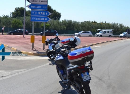 Statale 16 (bis) bloccata a Bisceglie Nord in direzione Foggia per un camion ribaltato