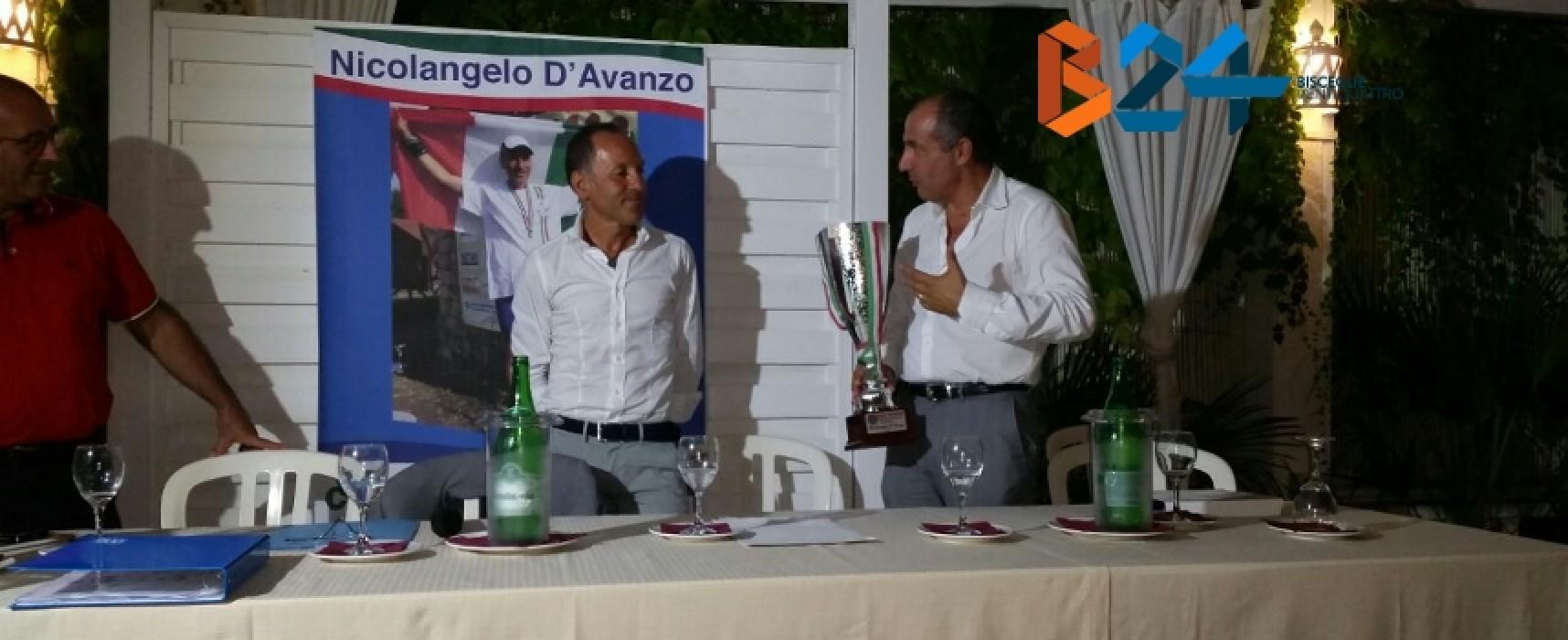 La Bisceglie Running ha premiato il suo atleta di spicco Nicolangelo D'Avanzo