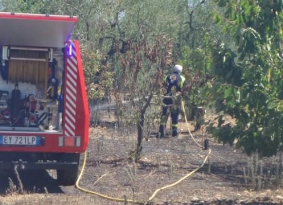 Terzo incendio in tre giorni: gli O.E.R. intervengono in zona Sant'Andrea