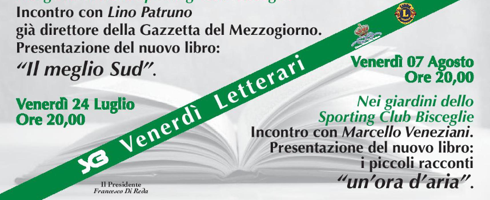 """""""Venerdì letterari"""", serate culturali nei giardini dello Sporting Club Bisceglie"""