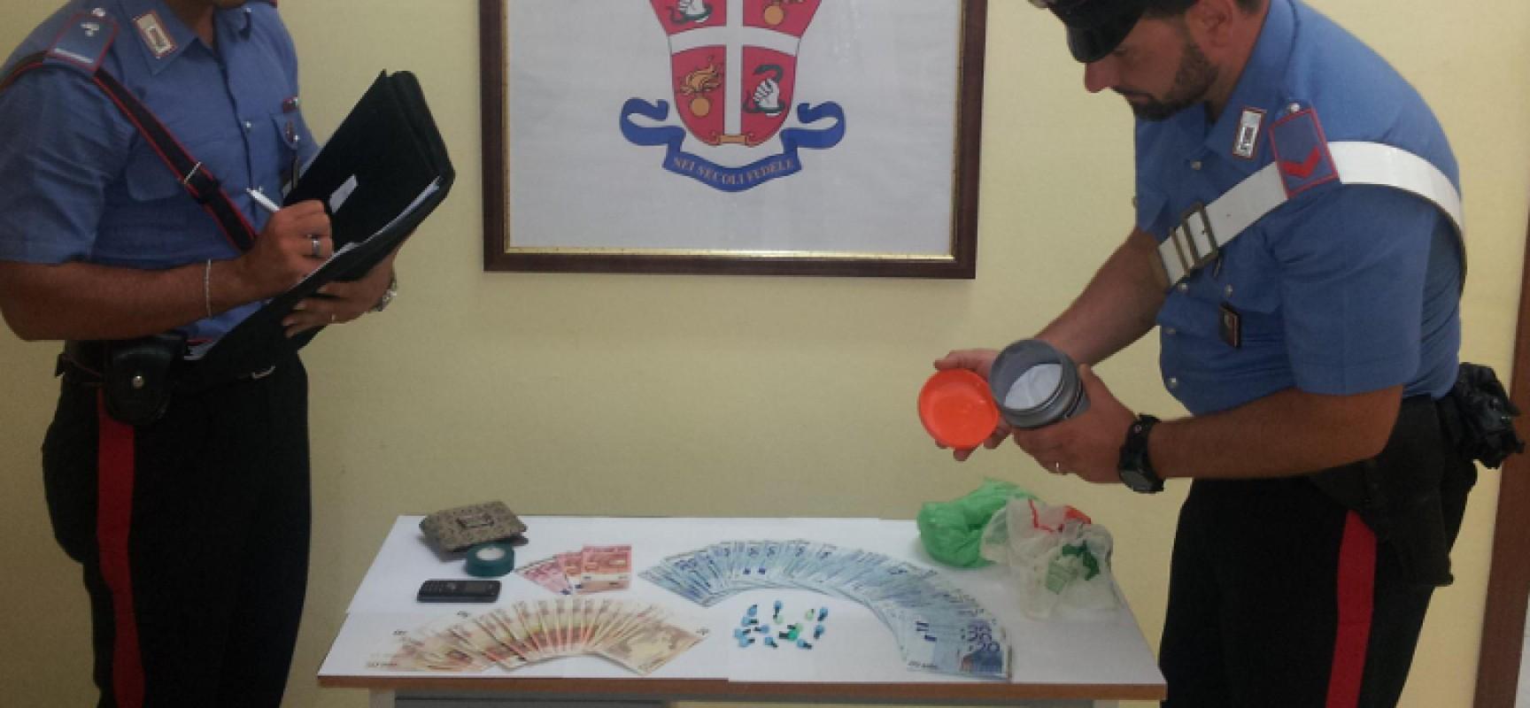 Carabinieri arrestano 38enne biscegliese nella sua abitazione per detenzione e spaccio di stupefacenti
