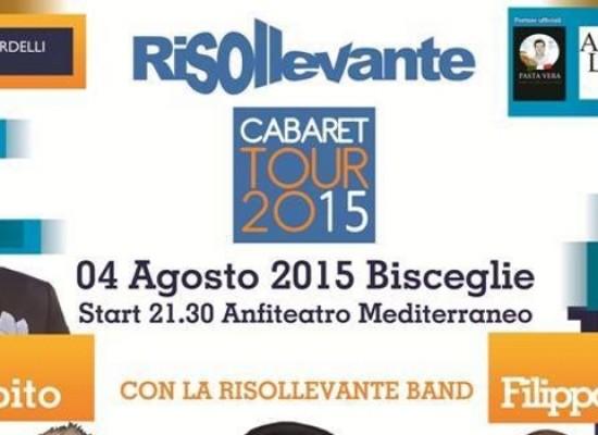 """""""Risollevante"""" cabaret tour, il 4 agosto al Teatro Mediterraneo"""