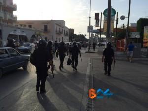 Foto interna scontri post gara Bisceglie Taranto