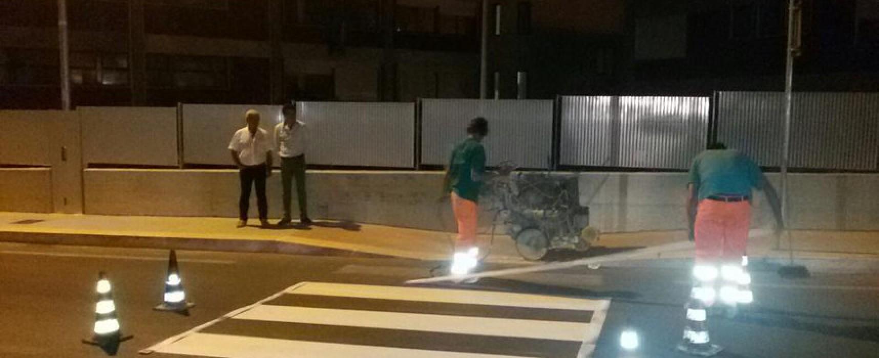 Strisce pedonali visibili e semafori funzionanti nei pressi delle scuole, partiti i lavori