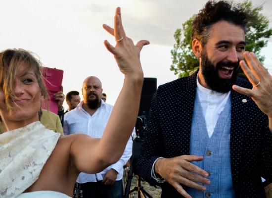 Il matrimonio ecosostenibile è biscegliese, Marzia Papagna e Domenico Pizzi sposi low cost / FOTO