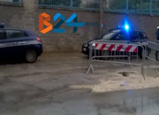 Cedimenti stradali in via Fragata, sanzionata la ditta che sta lavorando sulla fogna bianca