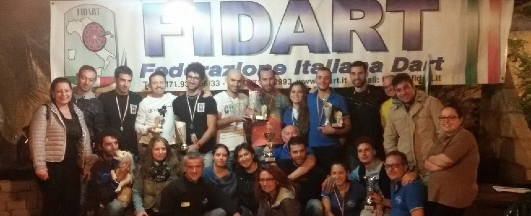 Prima finale del campionato di freccette disputata a Bisceglie