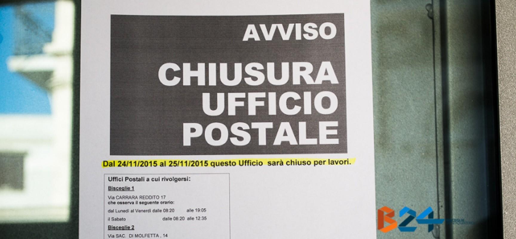 Posta centrale chiusa il 24 e 25 novembre per lavori