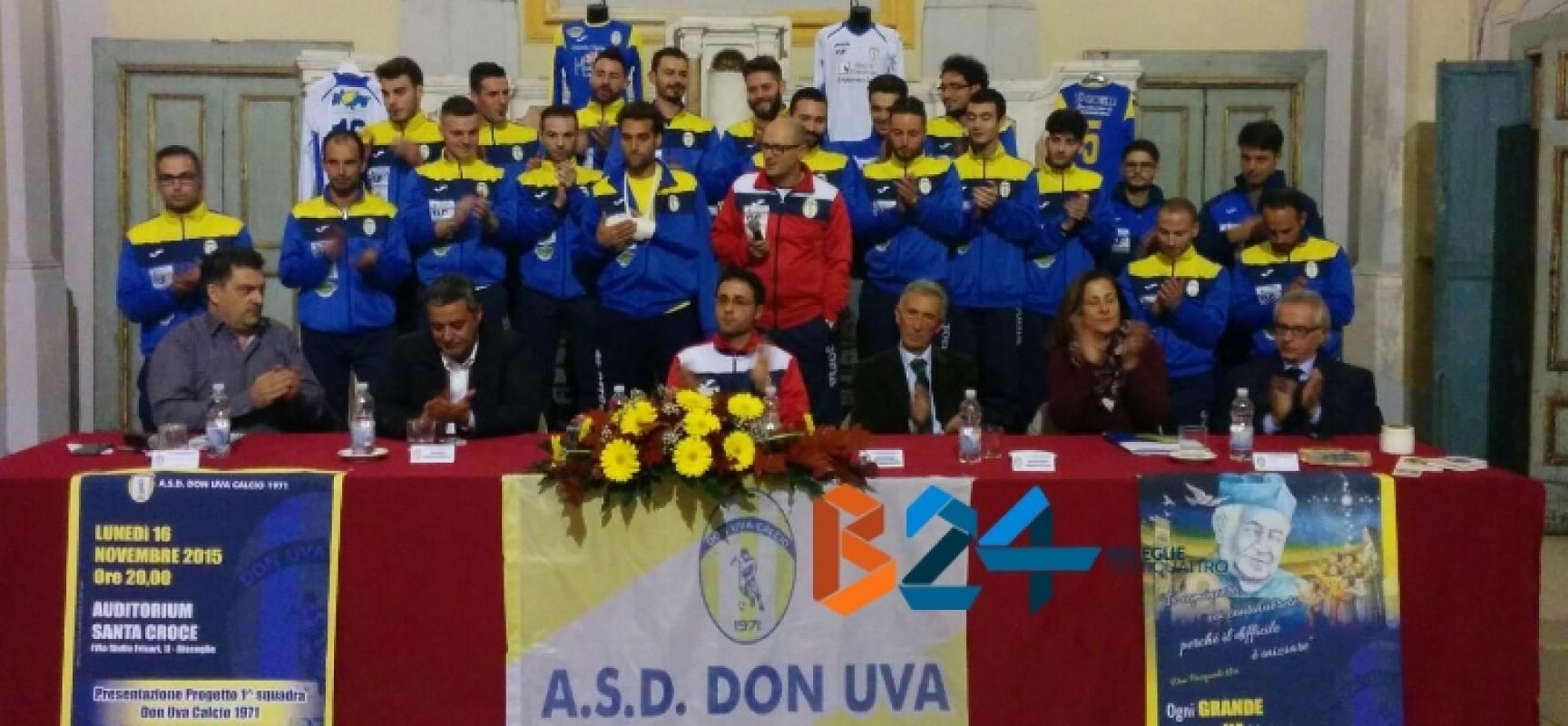 Riecco il Don Uva Calcio, dopo 16 anni rinasce la prima squadra
