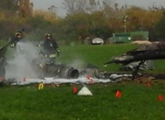 Incendio su un elicottero dell'Esercito, ferito un biscegliese non in gravi condizioni
