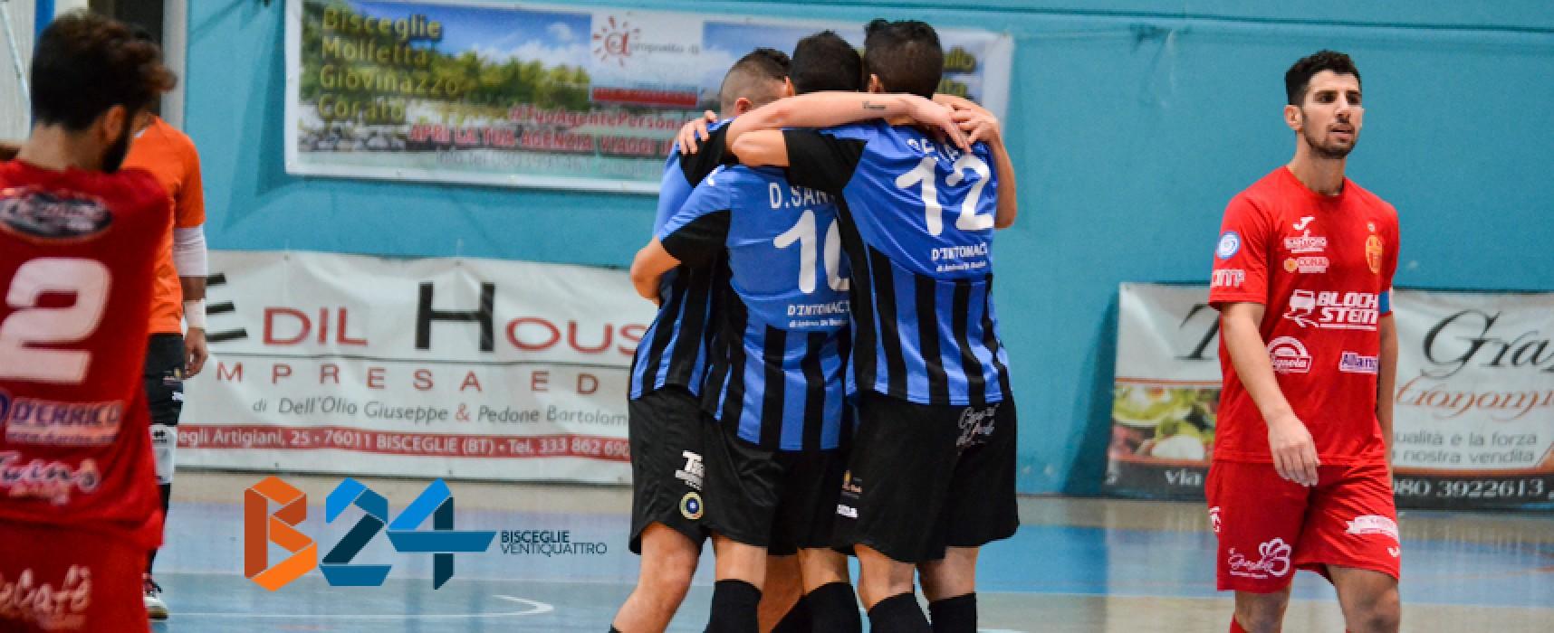 Futsal Bisceglie, che rimonta! Soffre e vince 8-4 a Catanzaro