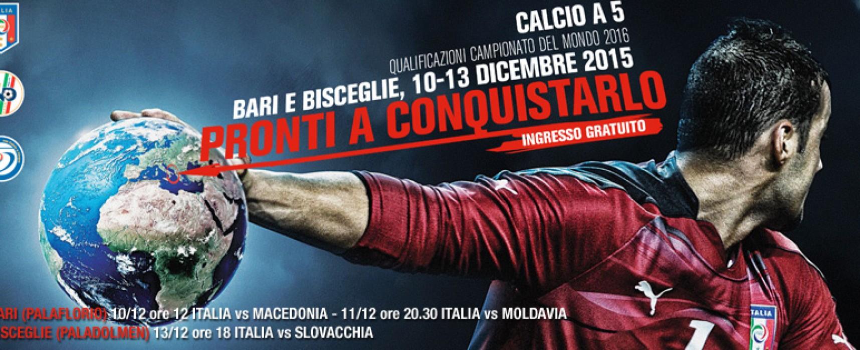 Qualificazioni ai Mondiali di calcio a 5: per Italia-Slovacchia ingresso gratuito