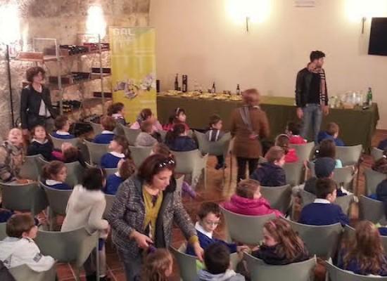 """I bambini del III circolo a """"scuola di olio"""" in un frantoio biscegliese"""