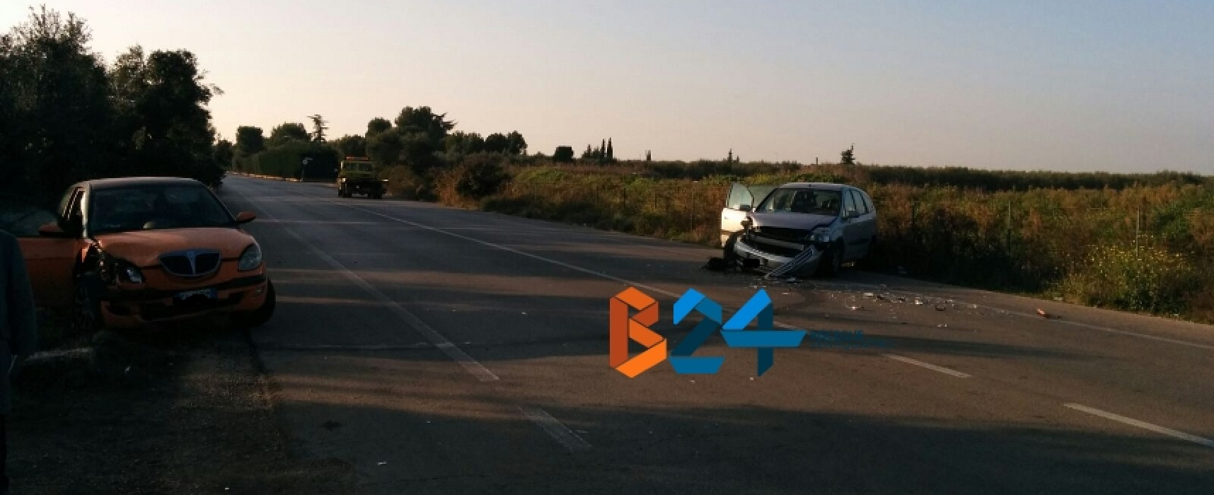 Incidente sulla provinciale Bisceglie-Andria, due auto coinvolte / FOTO