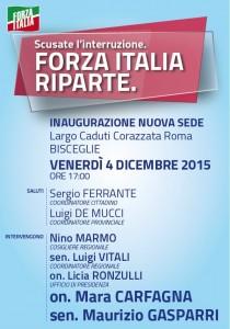 Inaugurazione nuova sezione Forza Italia Bisceglie