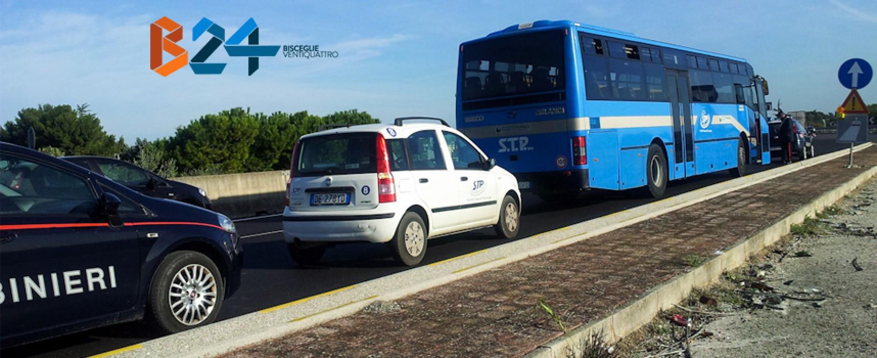 Operaio investito da un autobus sulla statale 16, è in gravi condizioni / FOTO