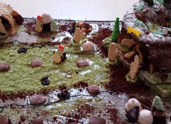 Ecco il presepe realizzato con dolci tipici biscegliesi: si ammira il 19 dicembre, si mangia il 20