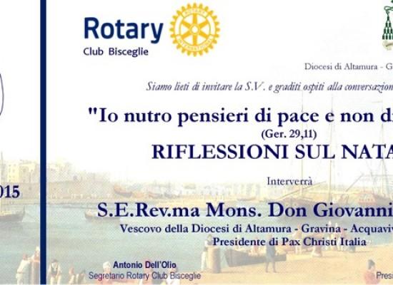 Rotary Club, questa sera incontro sul Natale con mons. Giovanni Ricchiuti